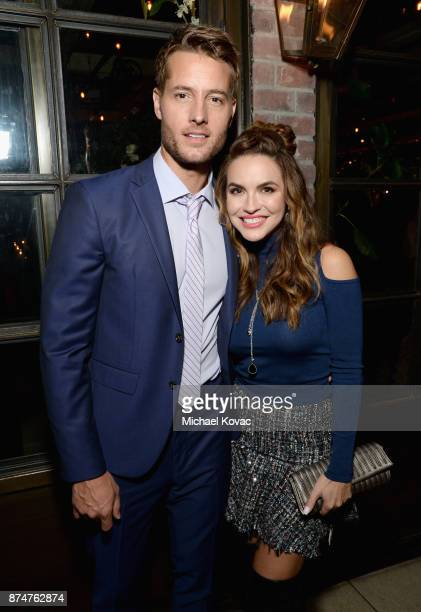 Justin Hartley and Chrishell Stause at Moet Celebrates The 75th Anniversary of The Golden Globes Award Season at Catch LA on November 15 2017 in West...