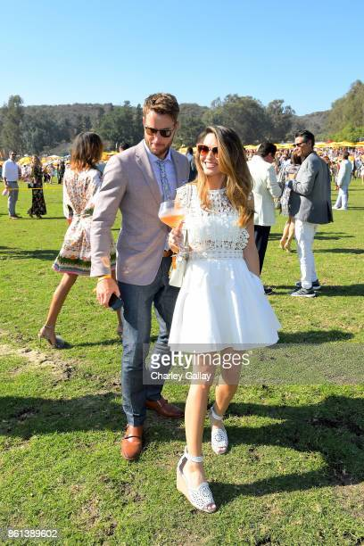 Justin Hartley and Chrishell Stause at the Eighth Annual Veuve Clicquot Polo Classic on October 14 2017 in Los Angeles California