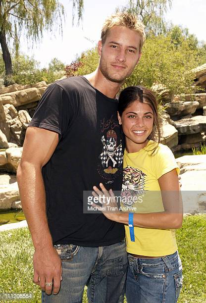 Justin Hartley and Lindsay Hartley during Fulfillment Fund's 2005 Annual Summer Splash at Alfred Mann's Estate in Los Angeles California United States