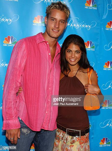 Justin Hartley and Lindsay Hartley during NBC's Passions 7th Season KickOff Party at Universal Citywalk in Universal City California United States