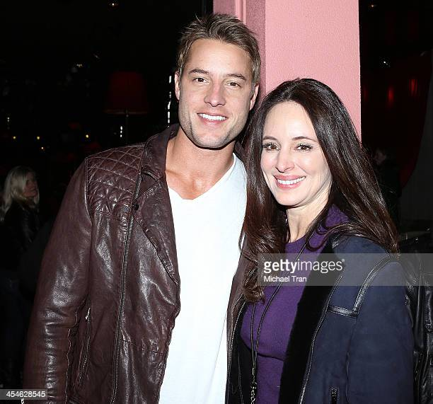 Justin Hartley and Madeleine Stowe attend The ALTimate Rooftop Christmas party held at W Hollywood on December 9, 2013 in Hollywood, California.