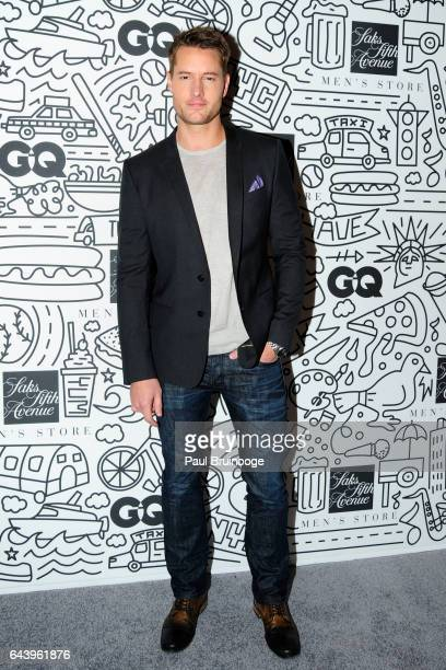 Justin Hartley attends the Saks downtown men's opening at Saks Downtown Men's on February 22 2017 in New York City