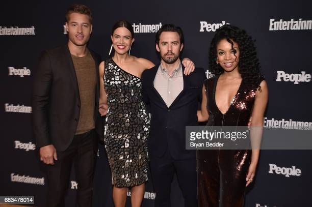 Justin Hartley Mandy Moore Milo Ventimiglia and Susan Kelechi Watson of This Is Us attend the Entertainment Weekly and PEOPLE Upfronts party...