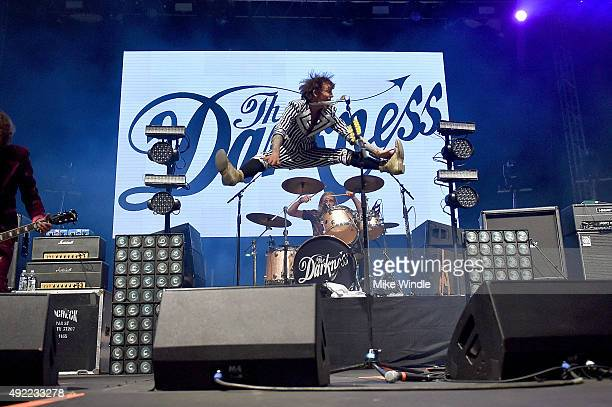 Justin Hawkins and Rufus Tiger Taylor of The Darkness perform onstage during Festival Supreme 2015 at The Shrine Auditorium on October 10 2015 in Los...