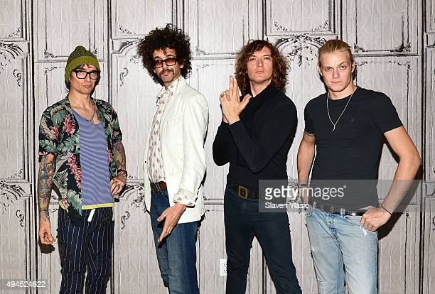 Justin Hawkins Frankie Poullain Dan Hawkins and Rufus Taylor of the band 'The Darkness' visit AOL BUILD to discuss their new album 'Last Of Our Kind'...