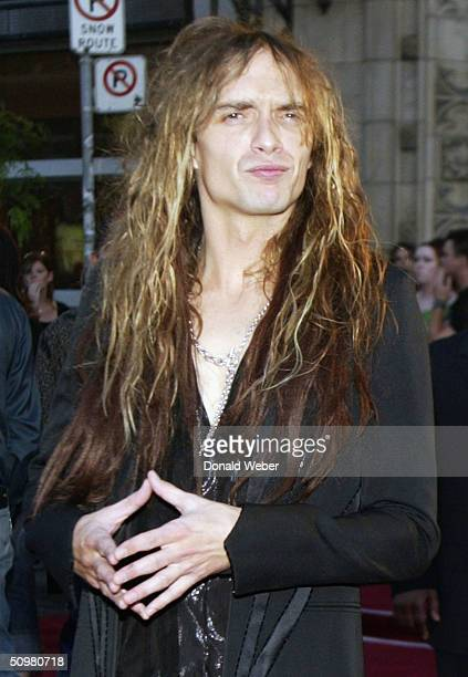 Justin Hawkins of The Darkness appears on the red carpet for the Much Music Video Awards on June 20 in Toronto Canada