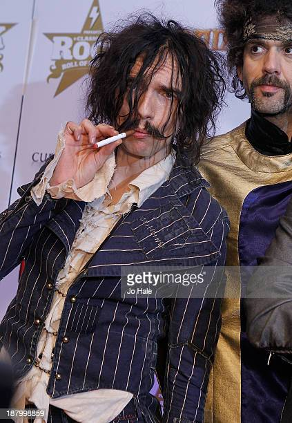 Justin Hawkins of The Darkness attends the Classic Rock Roll of Honour at The Roundhouse on November 14 2013 in London England