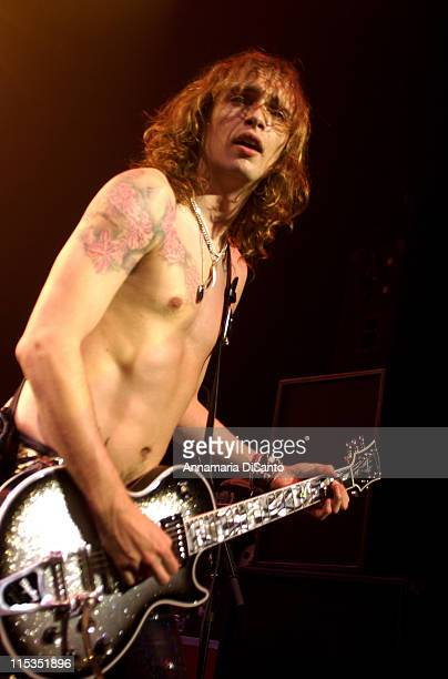 Justin Hawkins of The Darkness during The Darkness US Headlining Tour In Hollywood April 17 2004 at Music Box @ Henry Fonda Theatre in Hollywood CA...