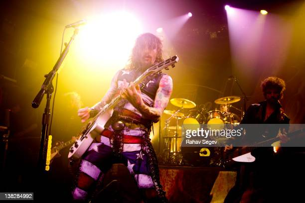 Justin Hawkins of The Darkness performs at Irving Plaza on February 4 2012 in New York City