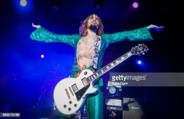 Justin Hawkins of The Darkness performs at the O2 Academy Birmingham on December 9 2017 in Birmingham England