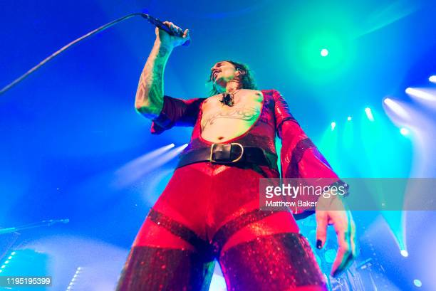 Justin Hawkins of The Darkness performs at The Roundhouse on December 20 2019 in London England