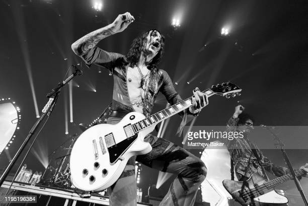 Justin Hawkins of The Darkness performs at The Roundhouse on December 20, 2019 in London, England.