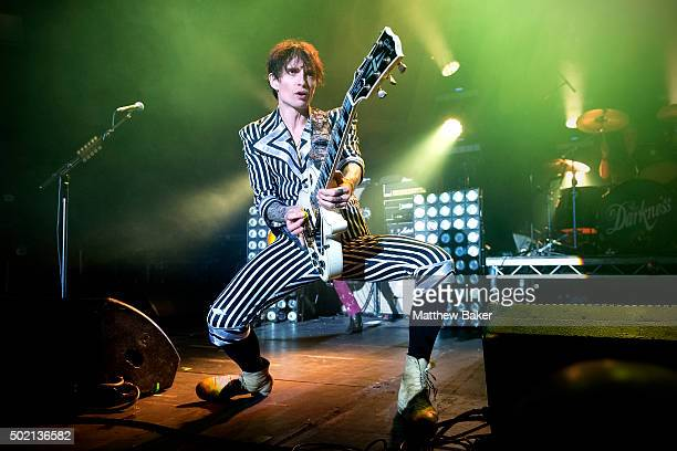 Justin Hawkins of The Darkness performs at The Roundhouse on December 20 2015 in London England
