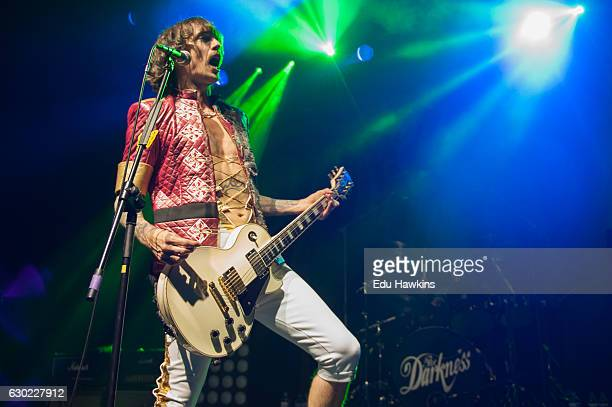 Justin Hawkins of The Darkness performs live on stage at Indigo at The O2 Arena on December 18 2016 in London England