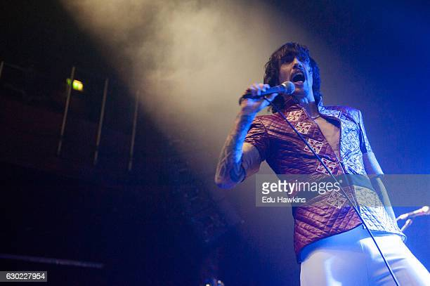 Justin Hawkins of The Darkness performs live onstage at Indigo at The O2 Arena on December 18 2016 in London England