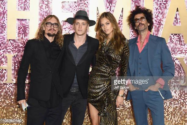 Justin Hawkins Rufus Tiger Taylor model Jessica Clarke Frankie Poullain Taylor of the band The Darkness attend the World Premiere of 'Bohemian...