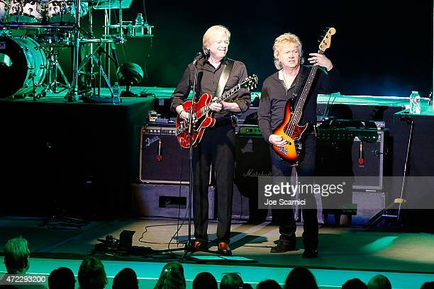 Justin Hayward and John Lodge of the Moody Blues perform at The Greek Theatre on May 5 2015 in Los Angeles California