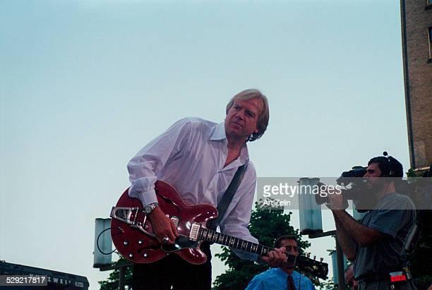 Justin Hayward of The Moody Blues in performance circa 1990 New York