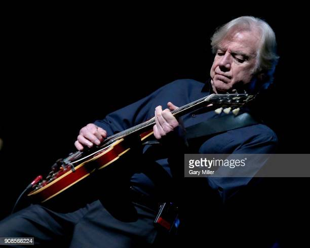 Justin Hayward of the Moody Blues performs in concert at HEB Center at Cedar Park on January 21 2018 in Cedar Park Texas