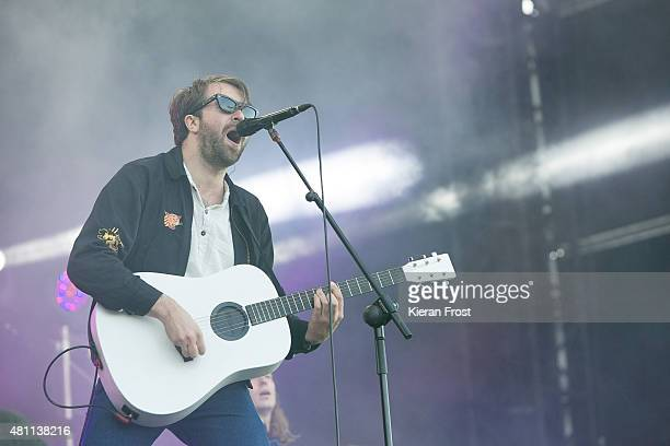 Justin Hayward-Young of The Vaccines performs at Longitude Festival on July 17, 2015 in Dublin, Ireland.