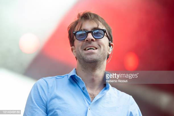 Justin Hayward-Young of The Vaccines performs on stage during Edinburgh Summer Sessions at Princes Street Gardens on August 9, 2018 in Edinburgh,...