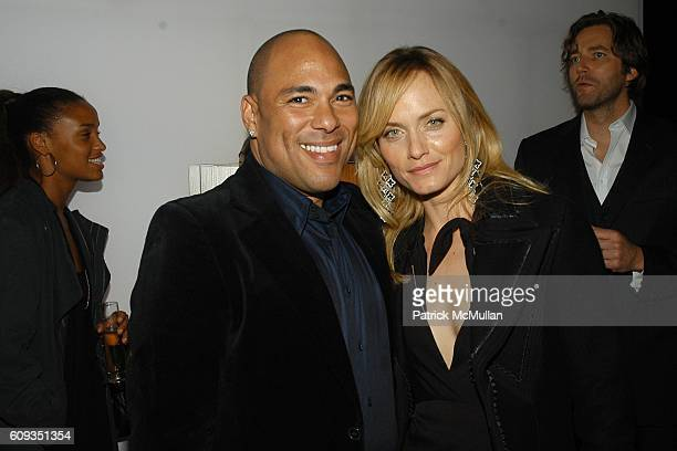 Justin Henry and Amber Valletta attend DAVID YURMAN Boutique Opening After Party Benefiting Project Angel Food at David Yurman Boutique on January 11...