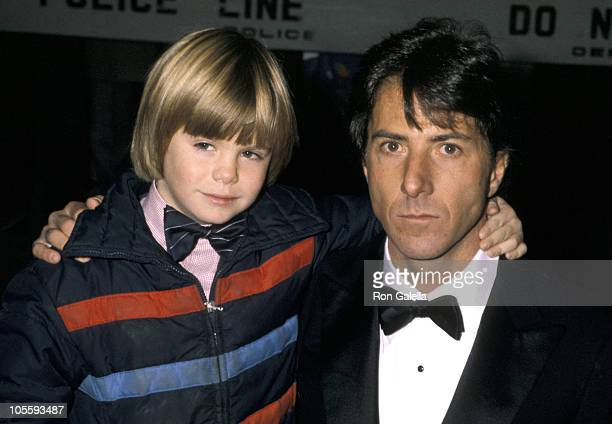 Justin Henry and Dustin Hoffman during Kramer vs Kramer New York City Premiere at Loews Astor Plaza Theater in New York City New York United States