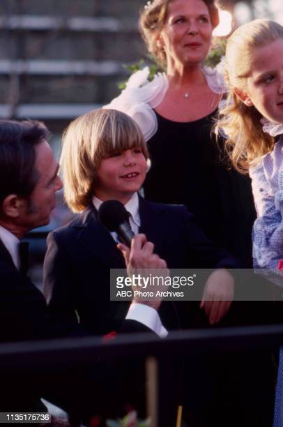 Justin Henry being interviewed on the red carpet before the 52nd Academy Awards / 1980 Academy Awards Dorothy Chandler Pavilion April 14 1980