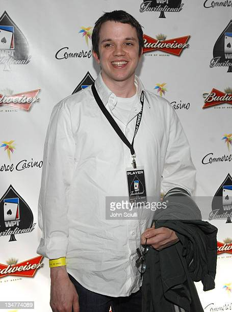 Justin Henry during 2007 World Poker Tour Celebrity Invitational Red Carpet at Commerce Casino in Commerce California United States