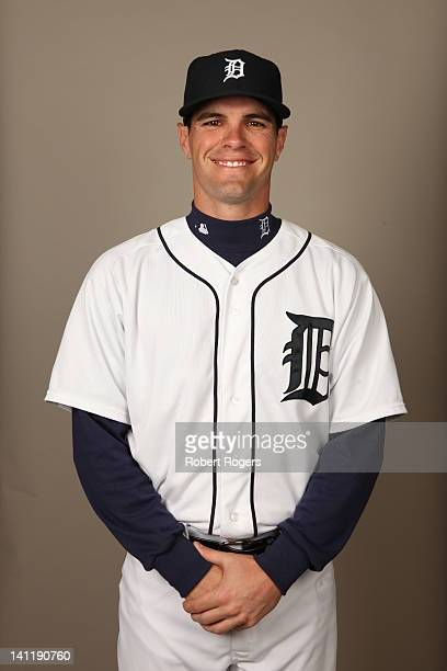 Justin Henry of the Detroit Tigers poses during Photo Day on Tuesday February 28 2012 at Joker Marchant Stadium in Lakeland Florida