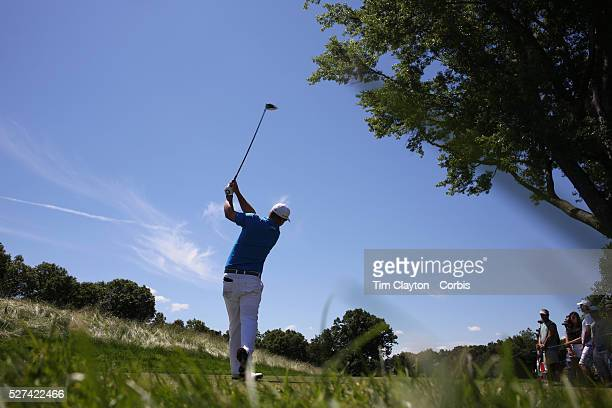 Justin Hicks USA in action during the final round of the Travelers Championship at the TPC River Highlands Cromwell Connecticut USA 22nd June 2014...