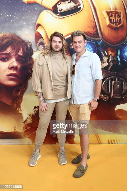 Justin Hill and guest attend the BUMBLEBEE Sydney Special Preview Screening at HOYTS Entertainment Quarter Moore Park on December 09 2018 in Sydney...