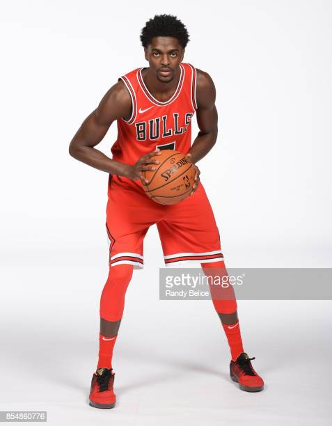 Justin Holiday of the Chicago Bulls poses for a portrait during the 201718 NBA Media Day on September 25 2017 at the United Center in Chicago...