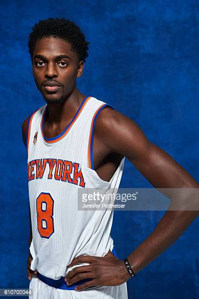 Justin Holiday of the New York Knicks pose for a portrait during media day at the Ritz Carlton in White Plains New York on September 26 2016 NOTE TO...