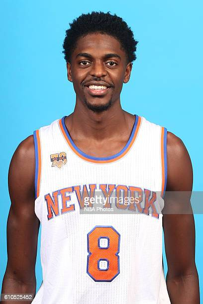 Justin Holiday of the New York Knicks poses for a head shot during media day at the Ritz Carlton in White Plains New York on September 26 2016 NOTE...