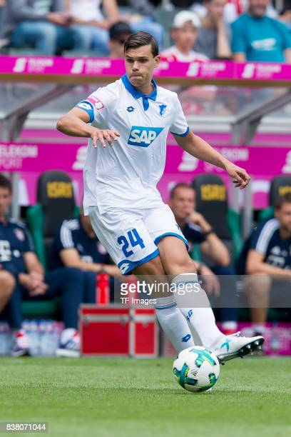 Justin Hoogma of Hoffenheim controls the ball during the Telekom Cup 2017 match between Bayern Muenchen and 1899 Hoffenheim at on July 15 2017 in...