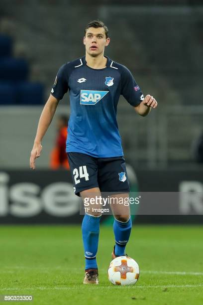 Justin Hoogma of Hoffenheim controls the ball during the UEFA Europa League group C match between 1899 Hoffenheim and PFC Ludogorets Razgrad at...