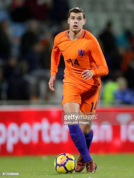 Justin Hoogma of Holland U21 during the match between Holland U21 v Andorra U21 at the De Vijverberg on November 10 2017 in Doetinchem Netherlands