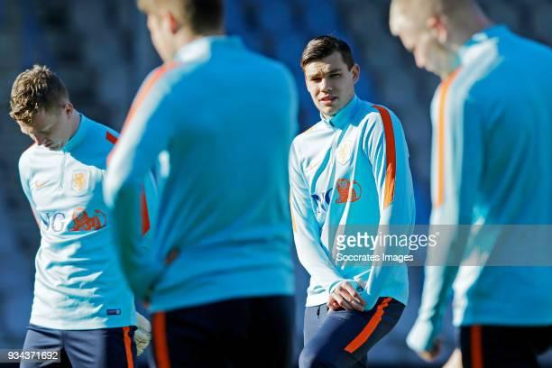 Justin Hoogma of Holland U21 during the Training Holland U21 at the De Vijverberg on March 19 2018 in Doetinchem Netherlands