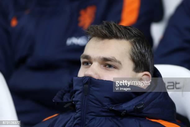 Justin Hoogma of Jong Oranje during the EURO U21 2017 qualifying match between Netherlands U21 and Andorra U21 at the Vijverberg stadium on November...