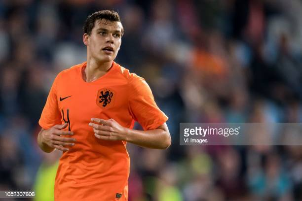 Justin Hoogma of Netherlands u21 during the EURO U21 2019 qualifying match between The Netherlands U21 and Ukraine U21 at the Vijverberg stadium on...
