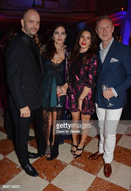 Justin Horne Yasmin Mills Lauren Kemp and Gary Kemp attend a party to celebrate Nefer Suvio's birthday hosted by The Count and Countess Francesco...