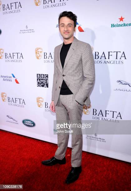 Justin Hurwitz arrives to the BAFTA Tea Party at The Four Seasons Hotel Los Angeles at Beverly Hills on January 05 2019 in Beverly Hills California