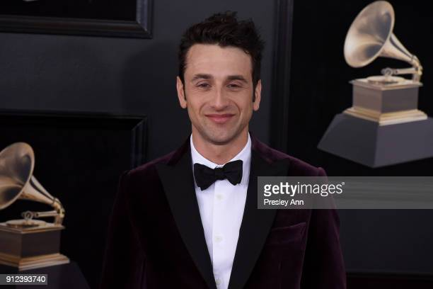 Justin Hurwitz attends the 60th Annual GRAMMY Awards Arrivals at Madison Square Garden on January 28 2018 in New York City