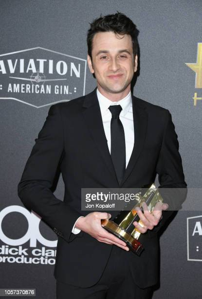 Justin Hurwitz winner of the Hollywood Film Composer Award attends the 22nd Annual Hollywood Film Awards at The Beverly Hilton Hotel on November 4...