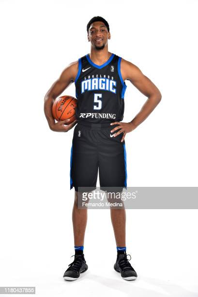 Justin Jackson of the Lakeland Magic pose for a portrait during G League Media Day on November 4, 2019 at HAUS 820 in Lakeland, Florida. NOTE TO...