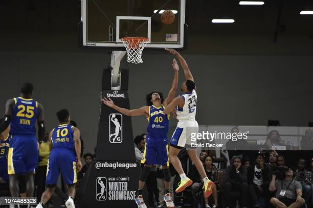 Justin Jackson of the Lakeland Magic puts up shot against the Santa Cruz Warriors during the NBA G League Winter Showcase on December 20, 2018 at...