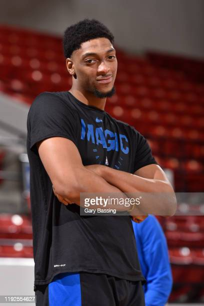 Justin Jackson of the Lakeland Magic smiles before the game against the Canton Charge on January 2 2020 at the RP Funding Center in Lakeland Florida...