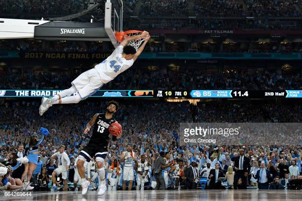 Justin Jackson of the North Carolina Tar Heels dunks during the 2017 NCAA Photos via Getty Images Men's Final Four National Championship game against...