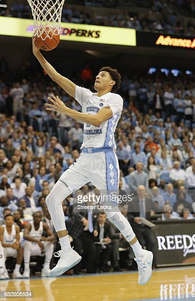 Justin Jackson of the North Carolina Tar Heels during their game at the Dean Smith Center on January 16 2017 in Chapel Hill North Carolina